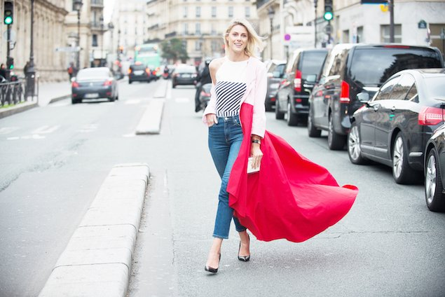 Street style during Haute Couture week in Paris