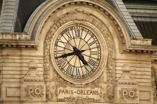 Façade of the Musée d'Orsay, which used to be a train station.