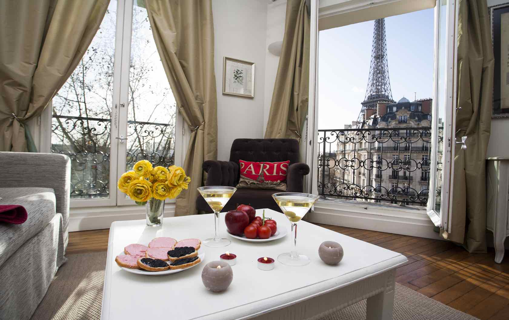 The 6 Most Romantic Paris Apartments for Lovebirds by Paris Perfect Champagne Apartment