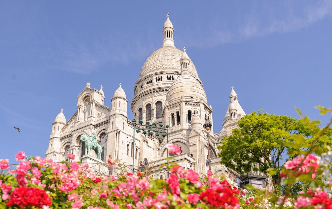 8 Amazing Churches in Paris - Sacré-Coeur Cathedral in Montmartre, Paris, France