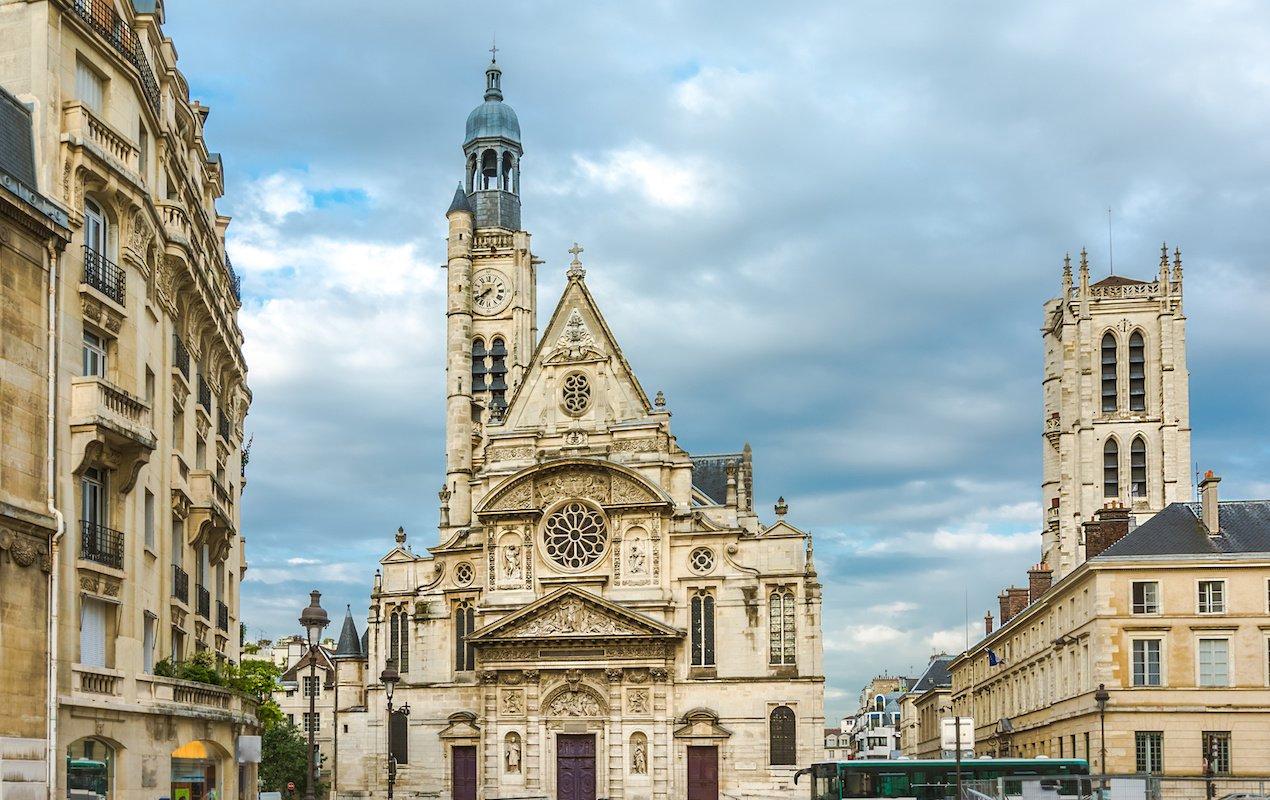 7 Amazing Churches in Paris - Saint Étienne du Mont in the Latin Quarter