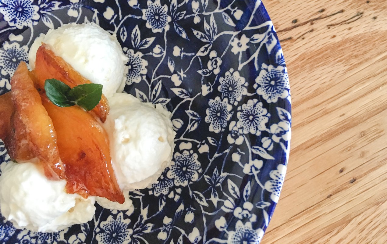 Honey-Caramelized Nectarine Vacherin Recipe