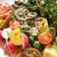Niçoise-Inspired Lentil Salad with Shallot Vinaigrette