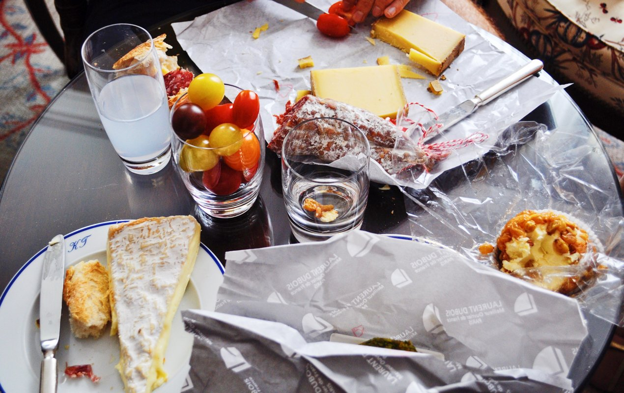 French baguettes and cheese in the Latin Quarter - Paris Perfect