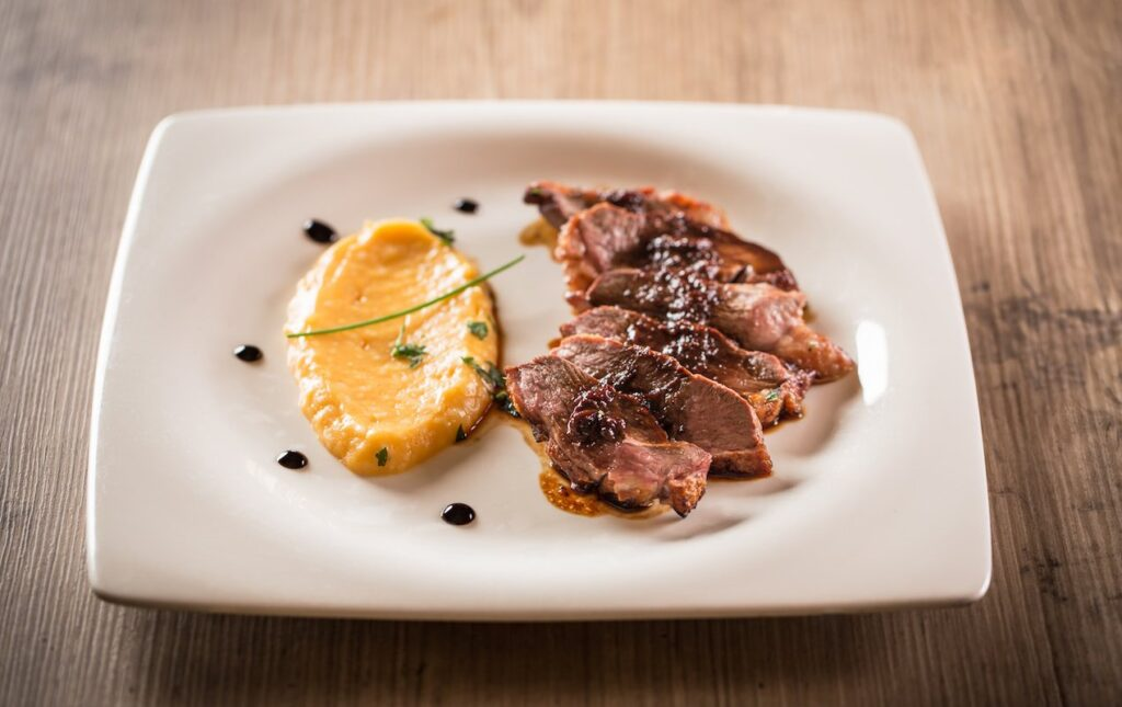 Seared Balsamic Duck with Orange Zest + Wine Pairings!