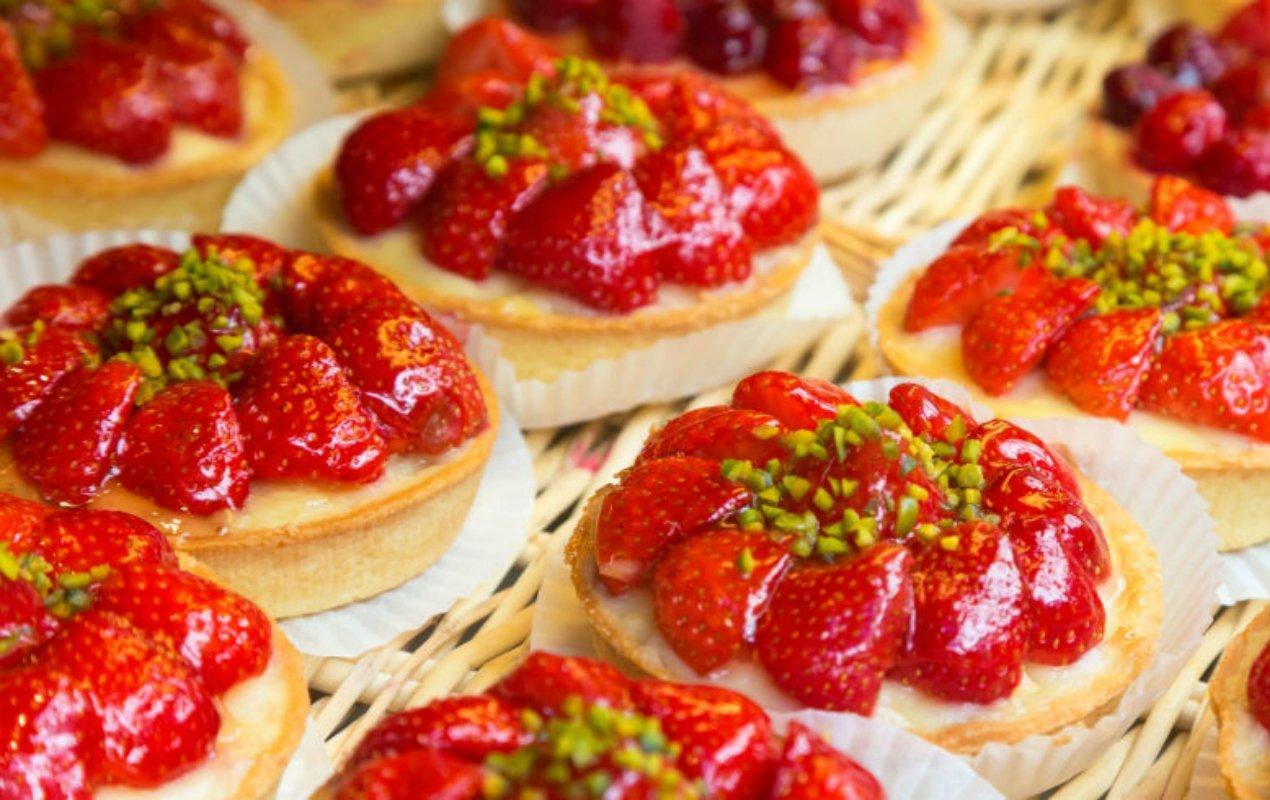 Pâtisseries aux fraises à Paris