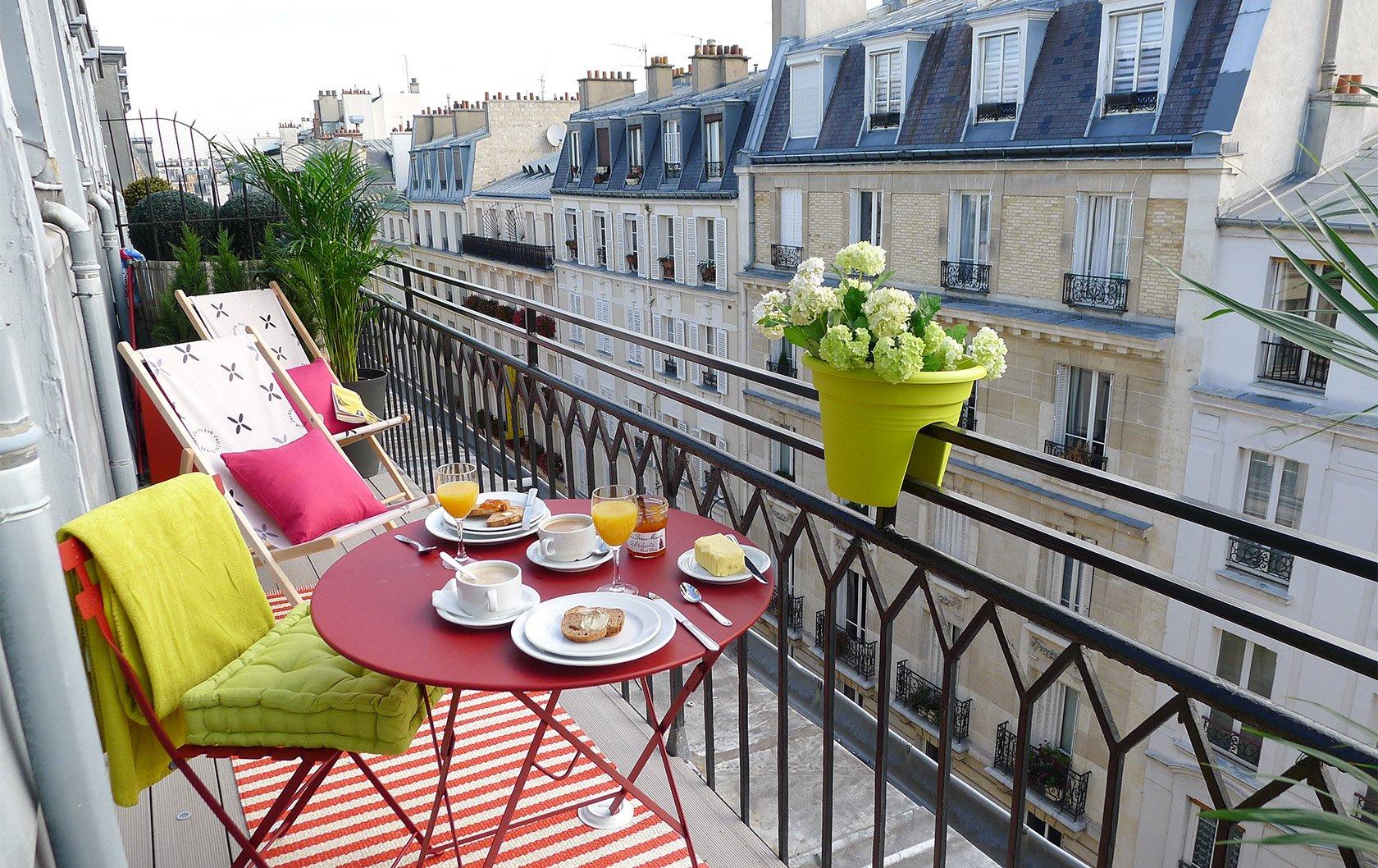 Saumur Paris apartment terrace on rue Cler