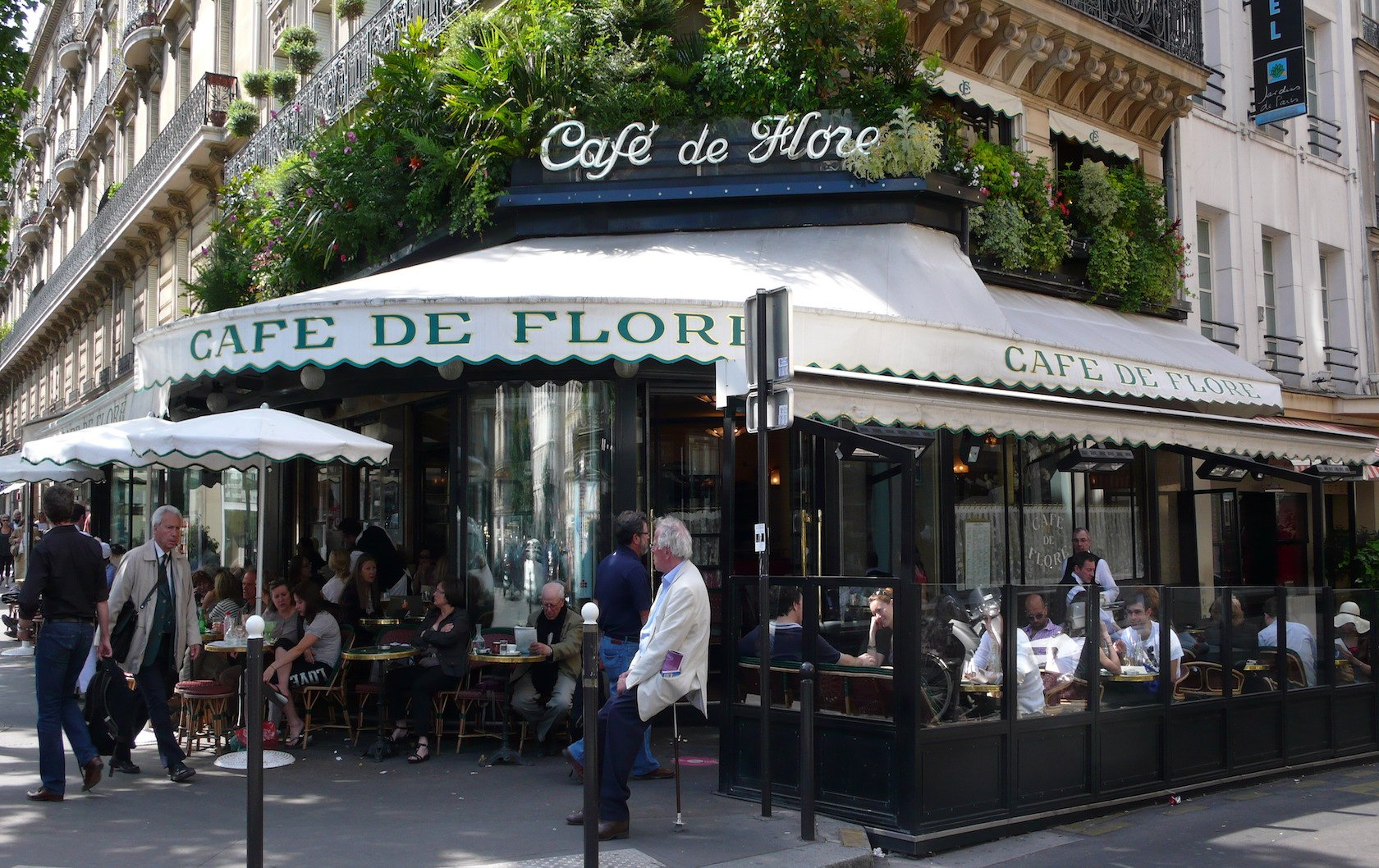 Pastries in Paris at Cafe de Flore