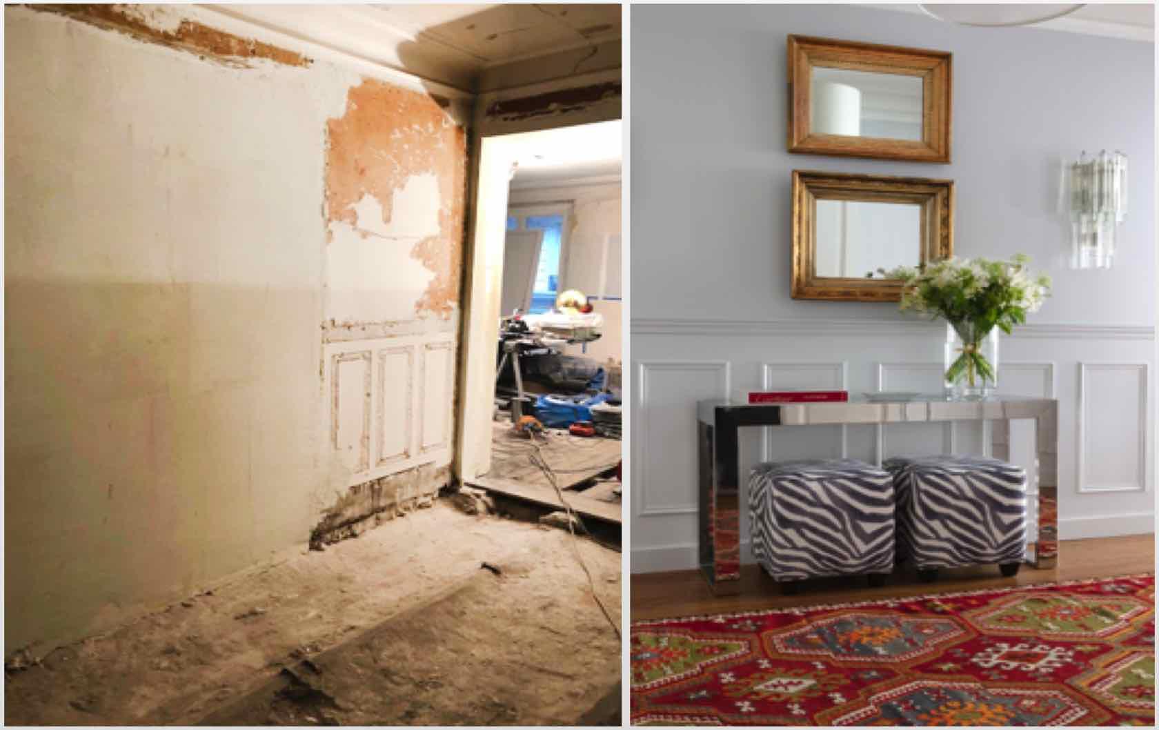 Buying and Renovating a Paris Apartment Saint Pourçain by Paris Perfect hallway