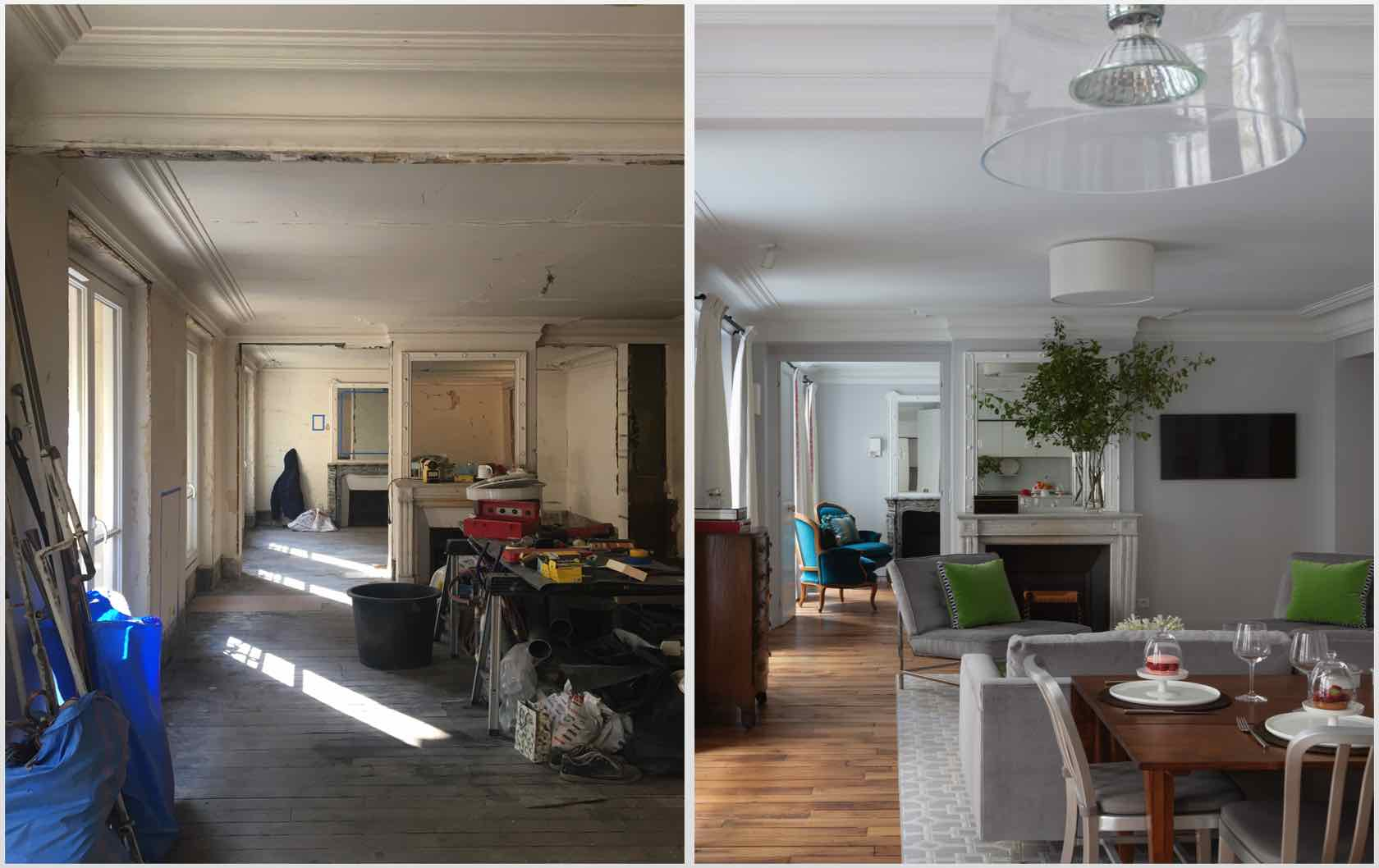 Buying and Renovating a Paris Apartment Saint Pourçain by Paris Perfect living room