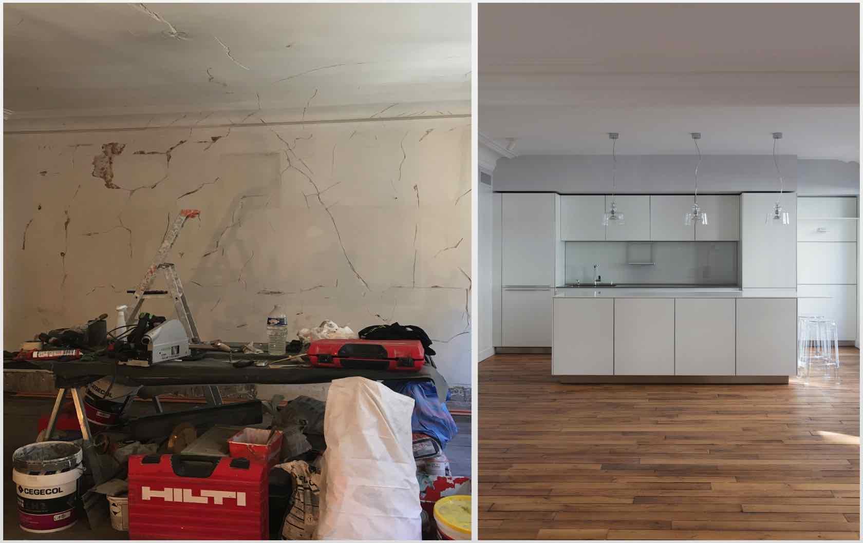 Buying and Renovating a Paris Apartment Saint Pourçain by Paris Perfect kitchen
