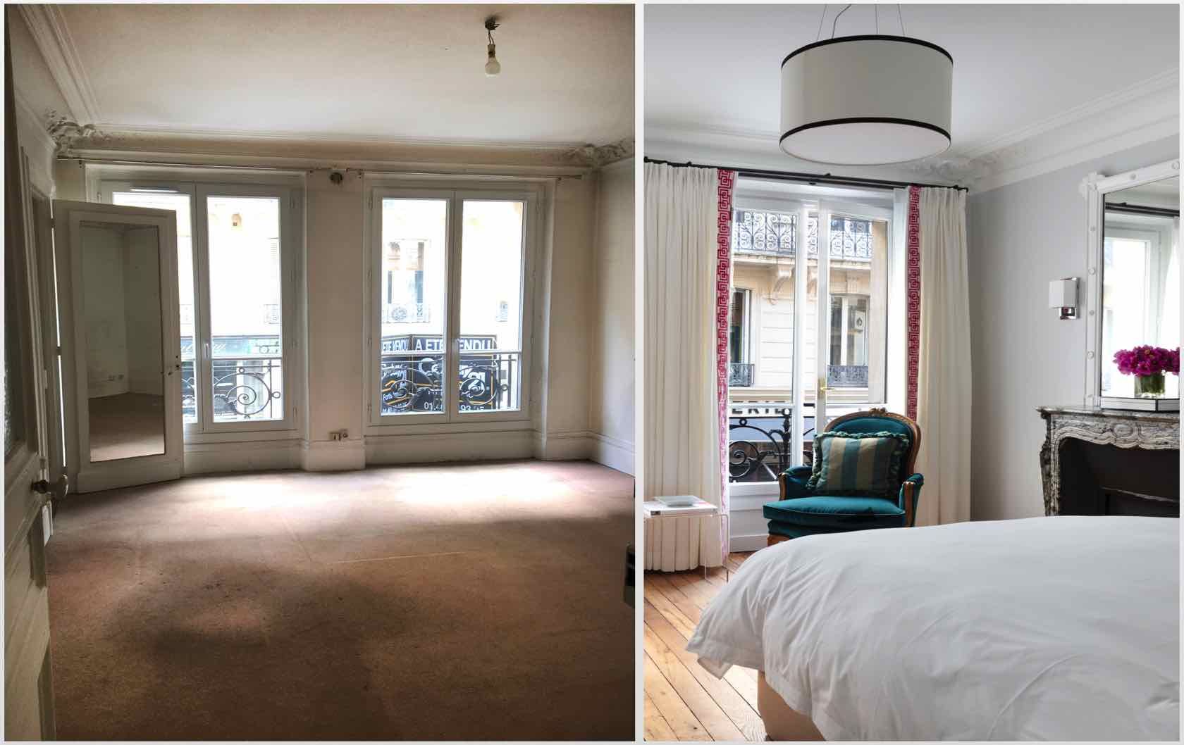 Buying and Renovating a Paris Apartment Saint Pourçain by Paris Perfect master bedroom