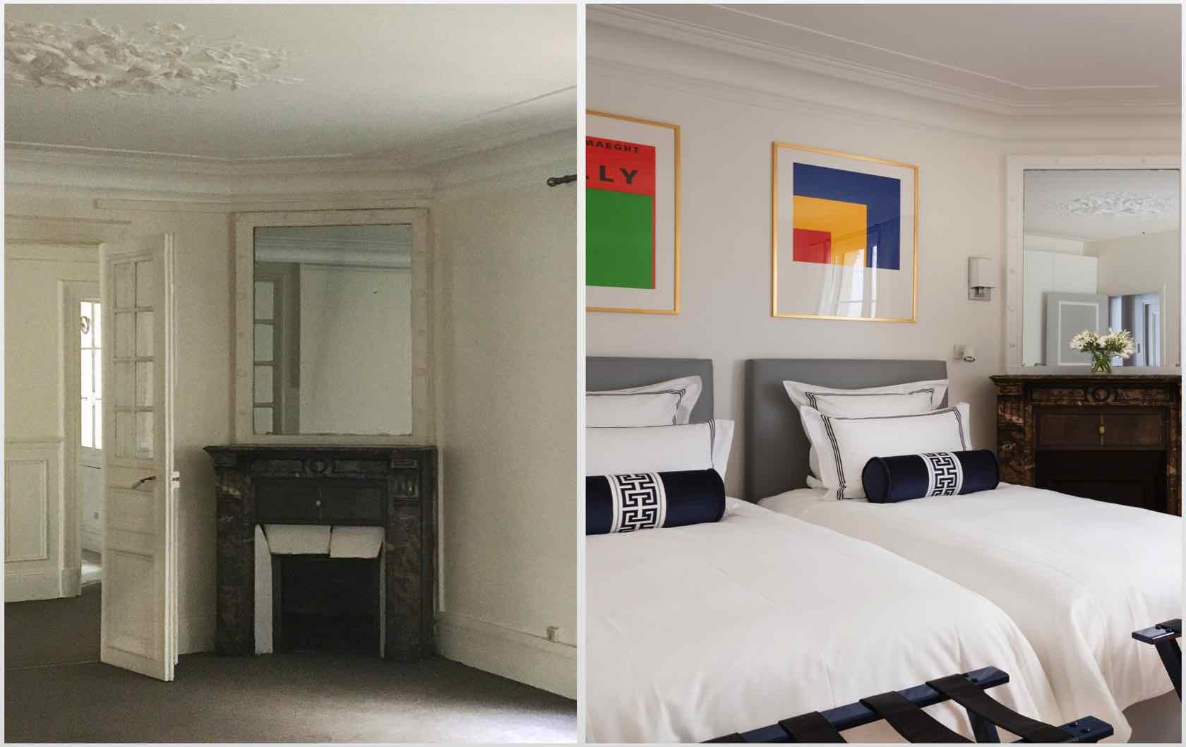 Buying and Renovating a Paris Apartment Saint Pourçain by Paris Perfect bedroom