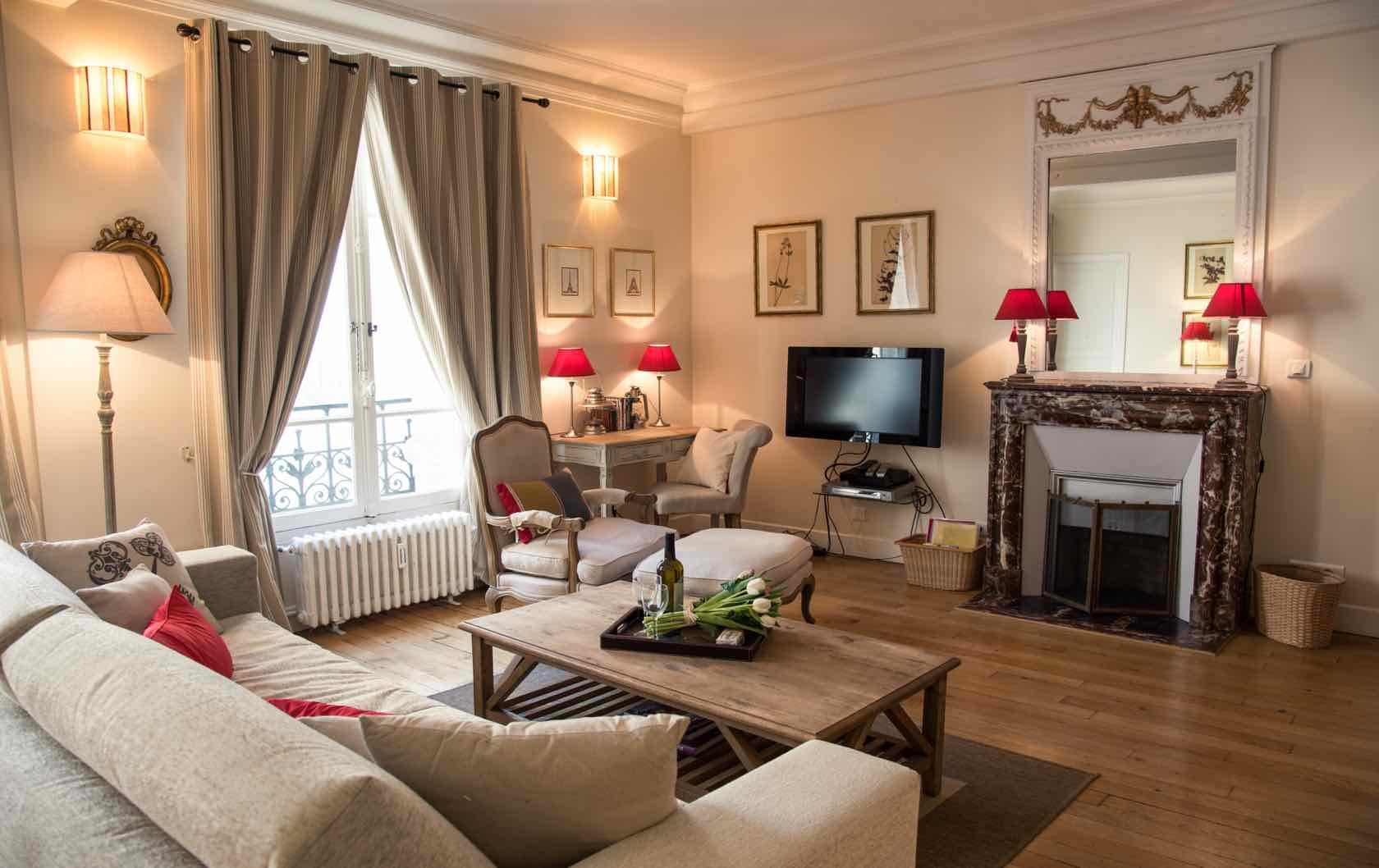 Warm and Cozy Apartments in Paris for Fall and Winter Stays by Paris Perfect Rully apartment