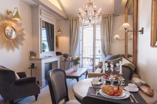 7 of our Most Instagrammable Apartments in Paris by Paris Perfect Monbazillac Living Room