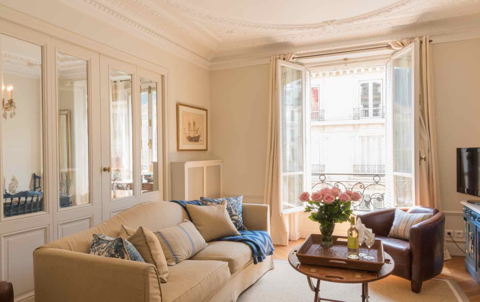 Live Like a Local in the Gamay, a Long-Term Rental in Paris by Paris Perfect apartment living room