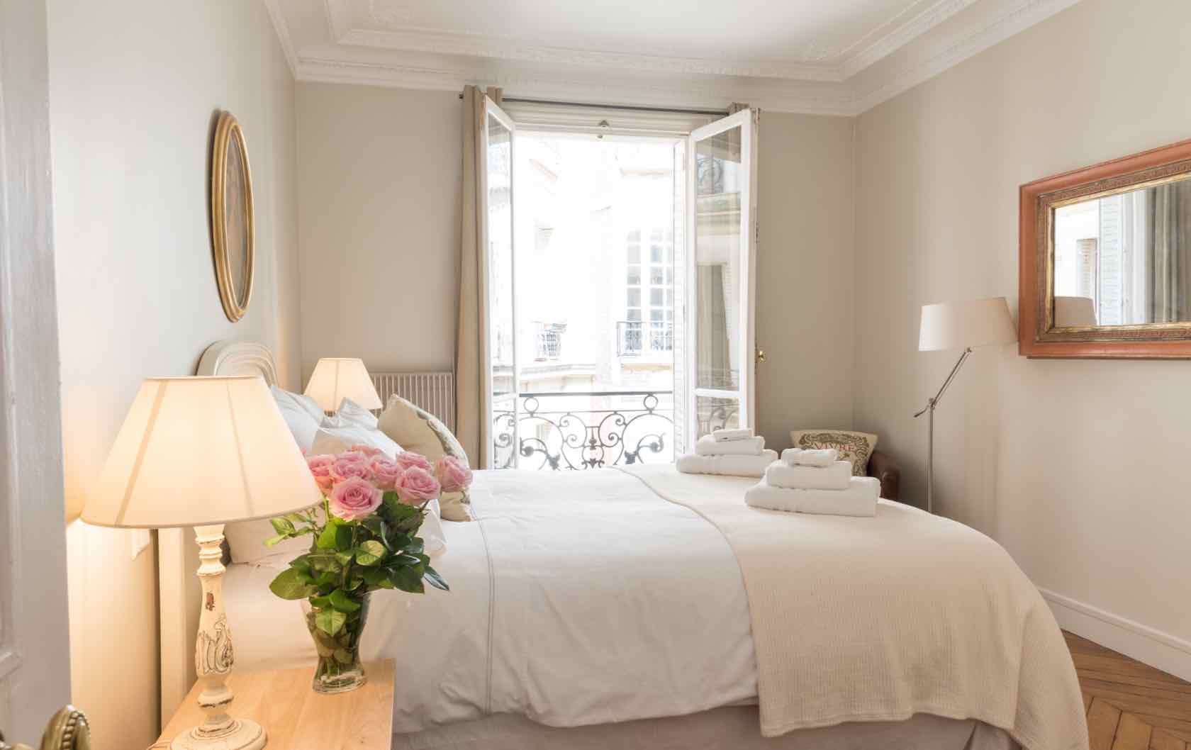 Live Like a Local in the Gamay, a Long-Term Rental in Paris by Paris Perfect master bedroom