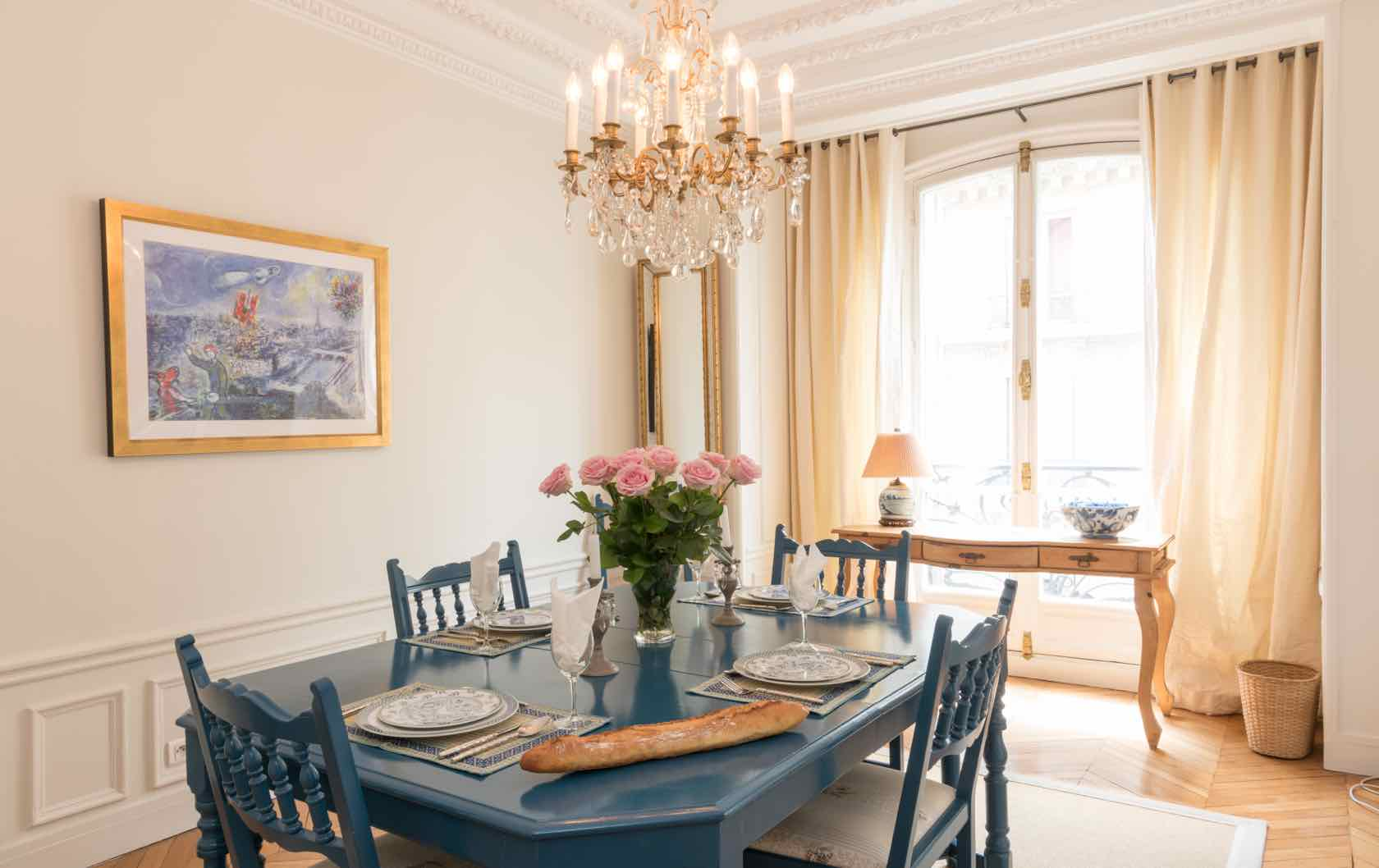 Live Like a Local in the Gamay, a Long-Term Rental in Paris by Paris Perfect dining room