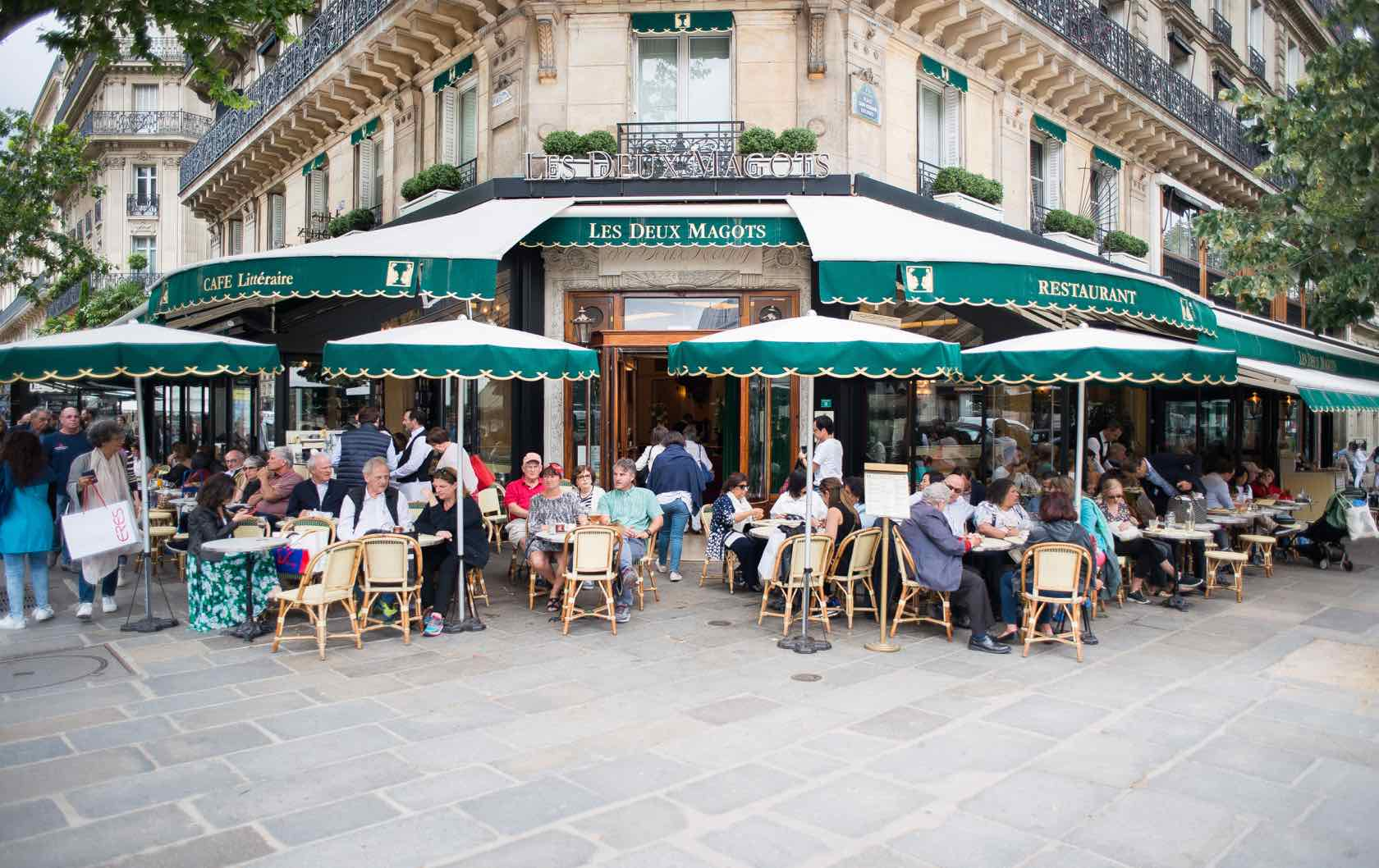 Everything You Want To Know About the Cafe Terraces in Paris by Paris Perfect Les Deux Magots