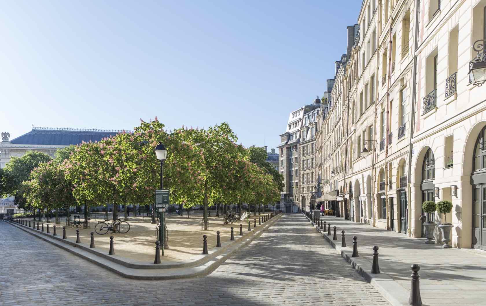 Place Dauphine Spring beautiful squares in Paris