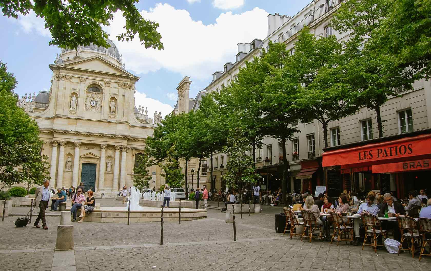 Place de la Sorbonne beautiful squares in Paris