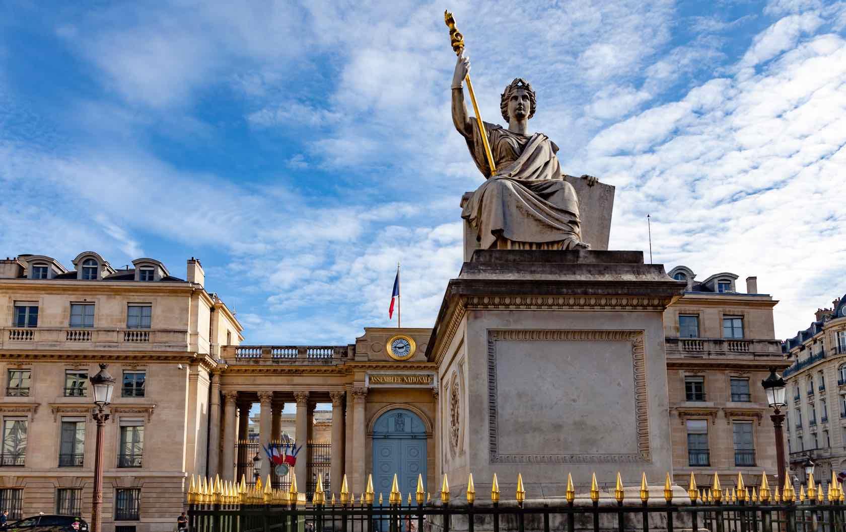 Place du Palais-Bourbon beautiful squares in Paris