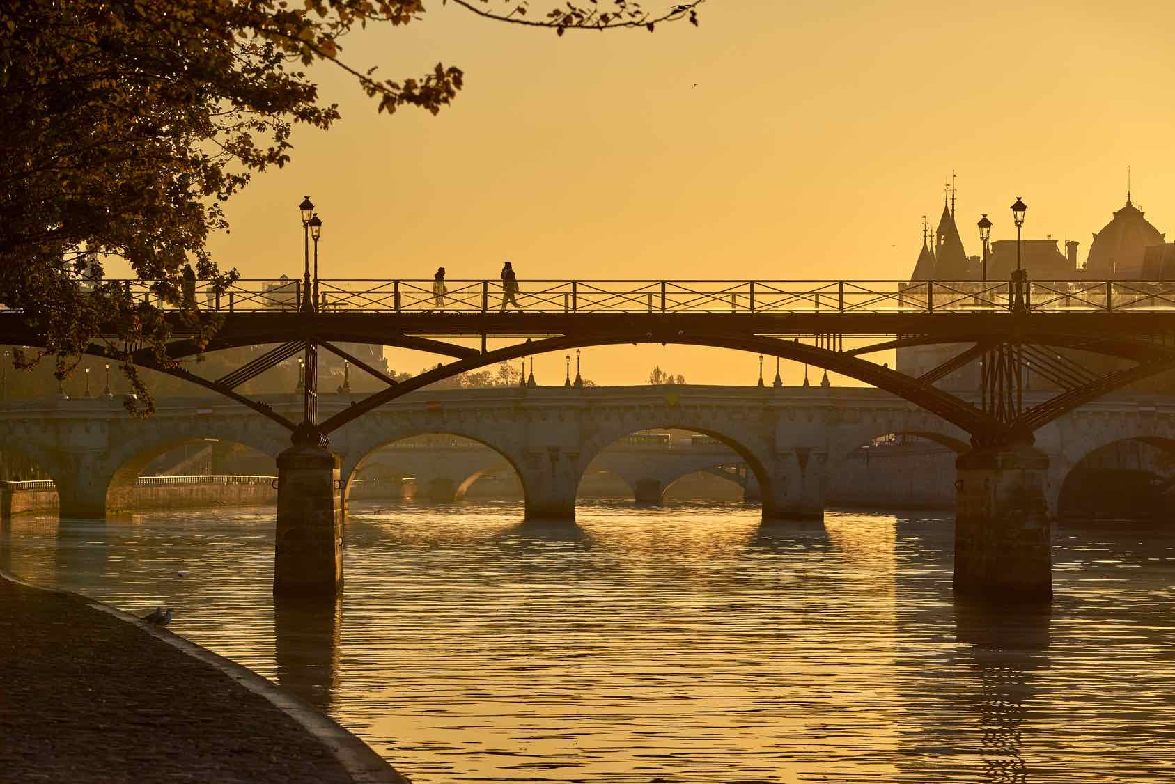 Pont des Arts at Sunrise in Paris