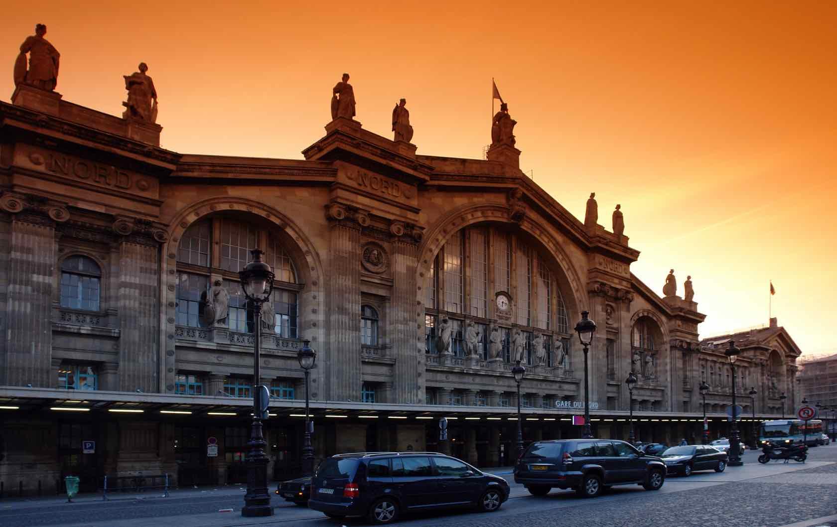 Gare du Nord sunset