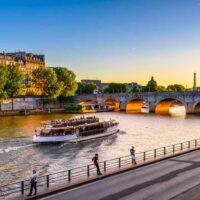 Seine River Sunset Summer Paris