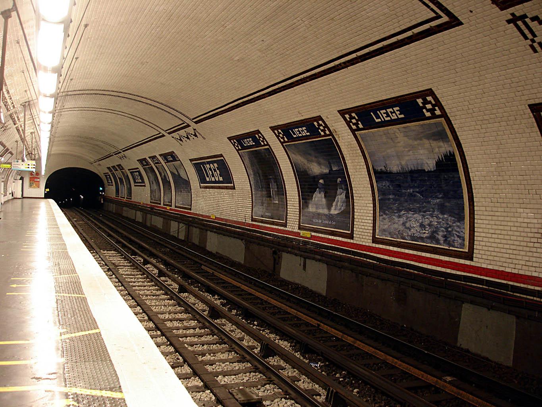 Liege Paris Metro Station