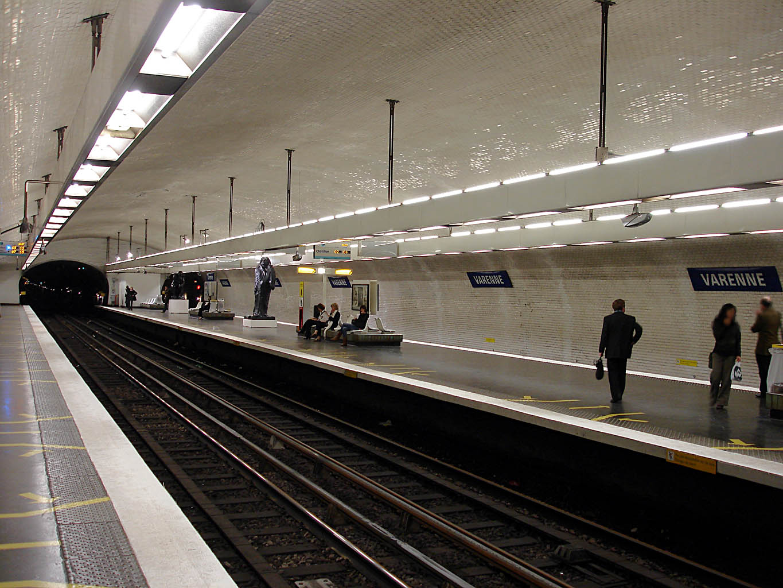 Varenne Metro Station Paris