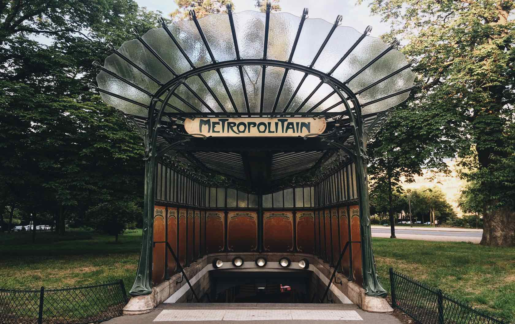 Paris Metro Station Entrance Porte Dauphine