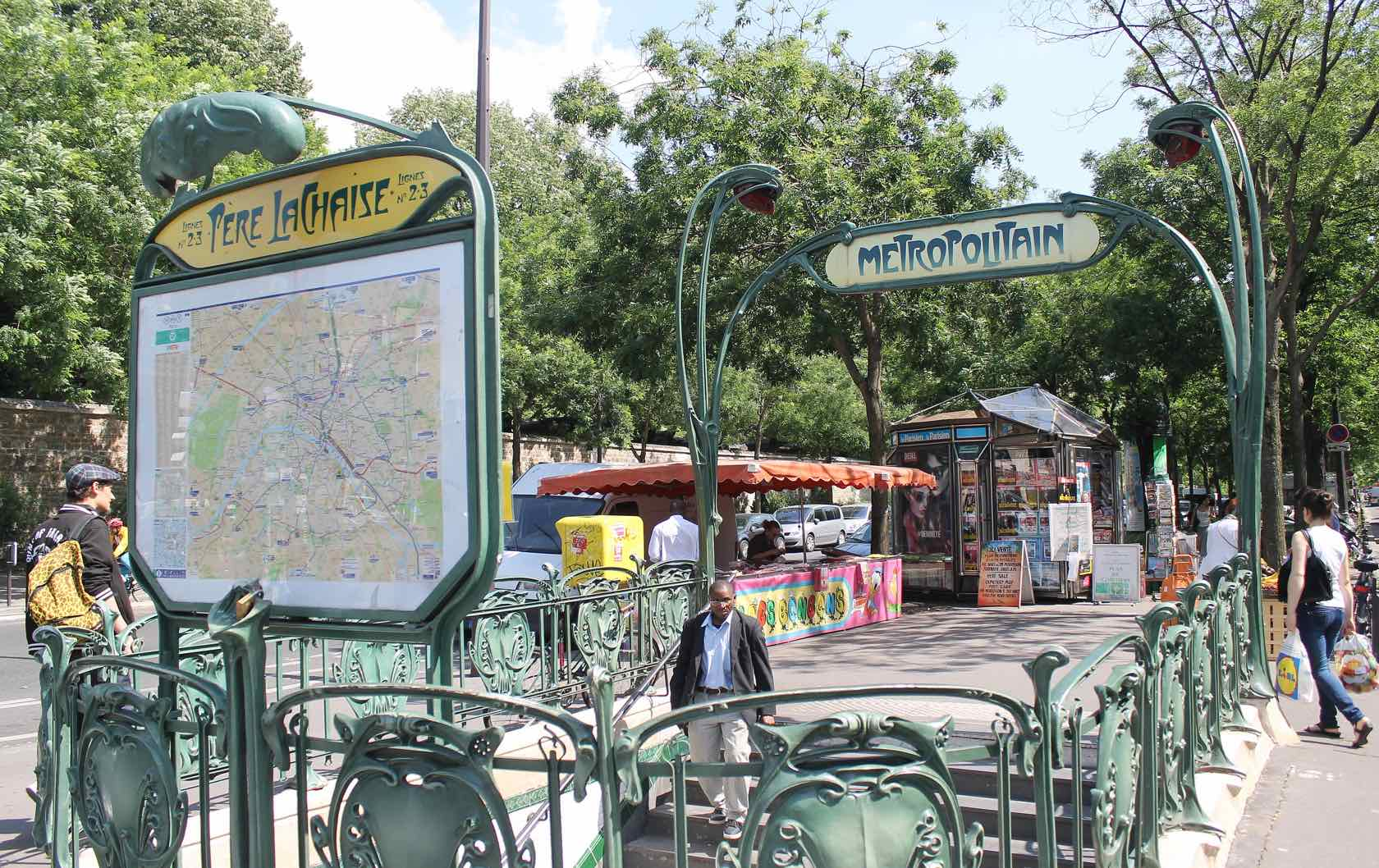 Paris Metro Station Entrance Père Lachaise