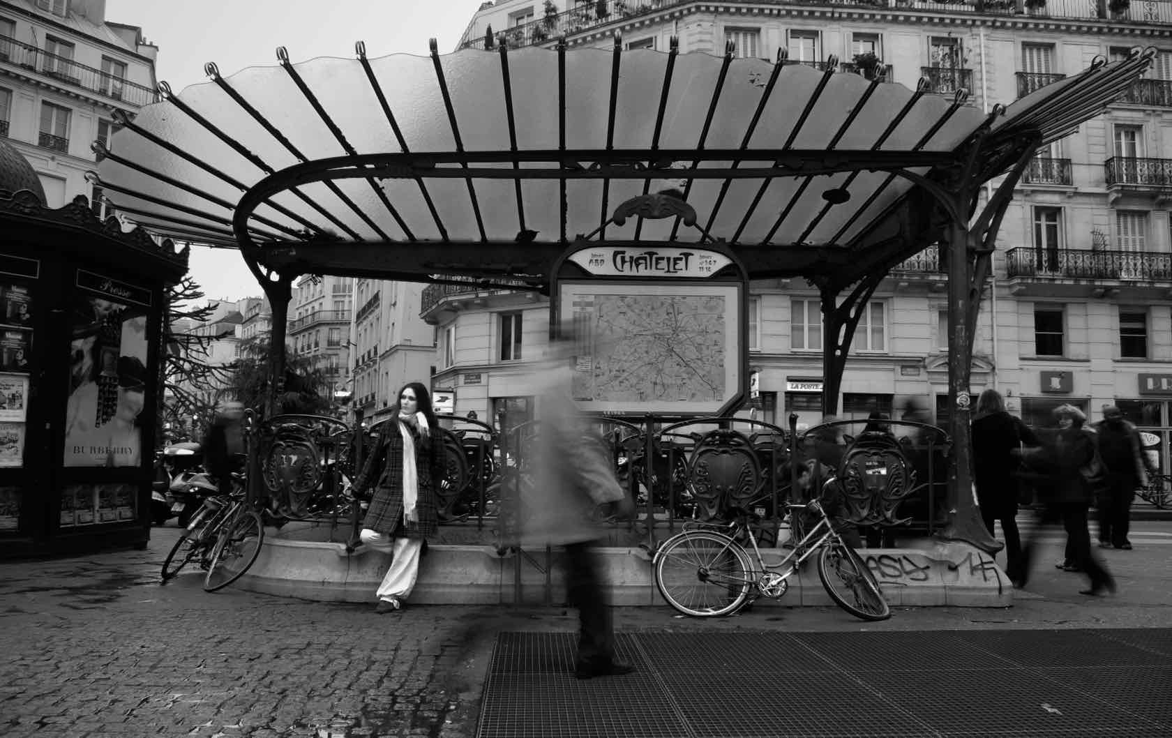 Paris Metro Station Entrance Chatlet