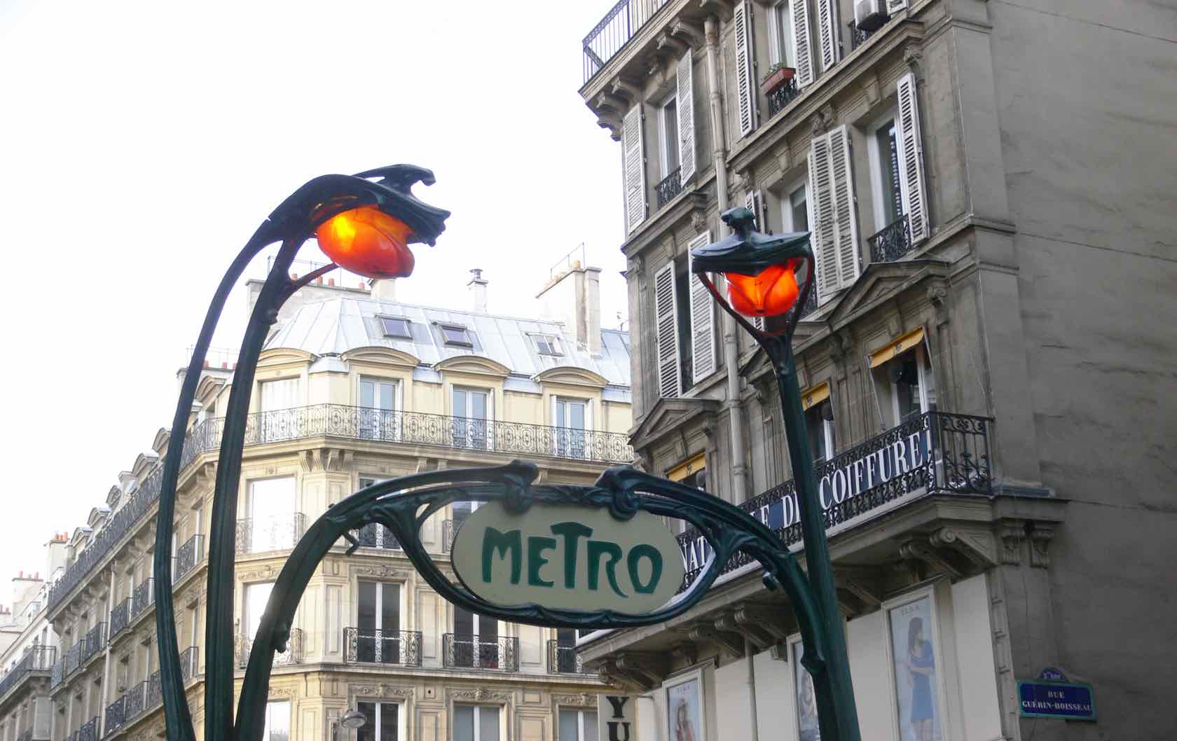 Paris Metro Station Entrance