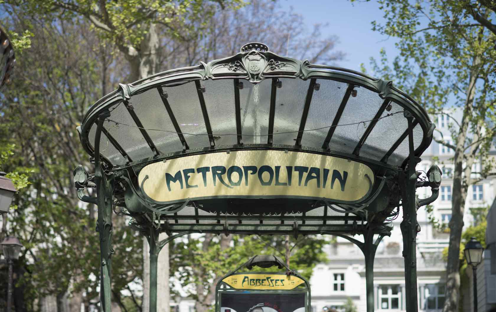 Paris Metro Station Entrance Abbesses