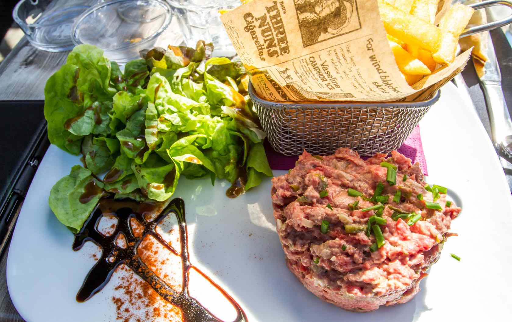 Classic Savory French Dishes Tartare de Boeuf
