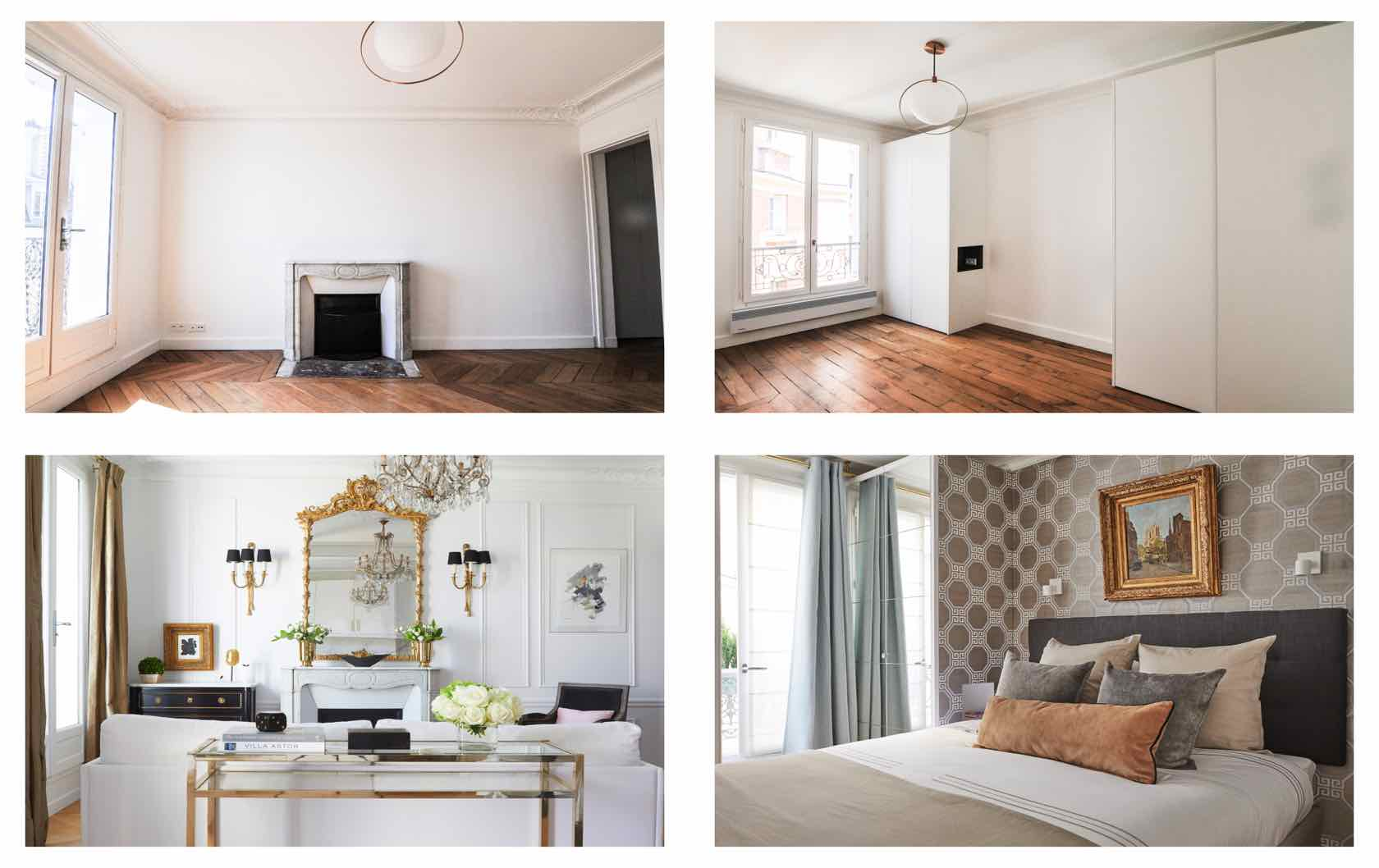 renovating a Paris apartment Before and after