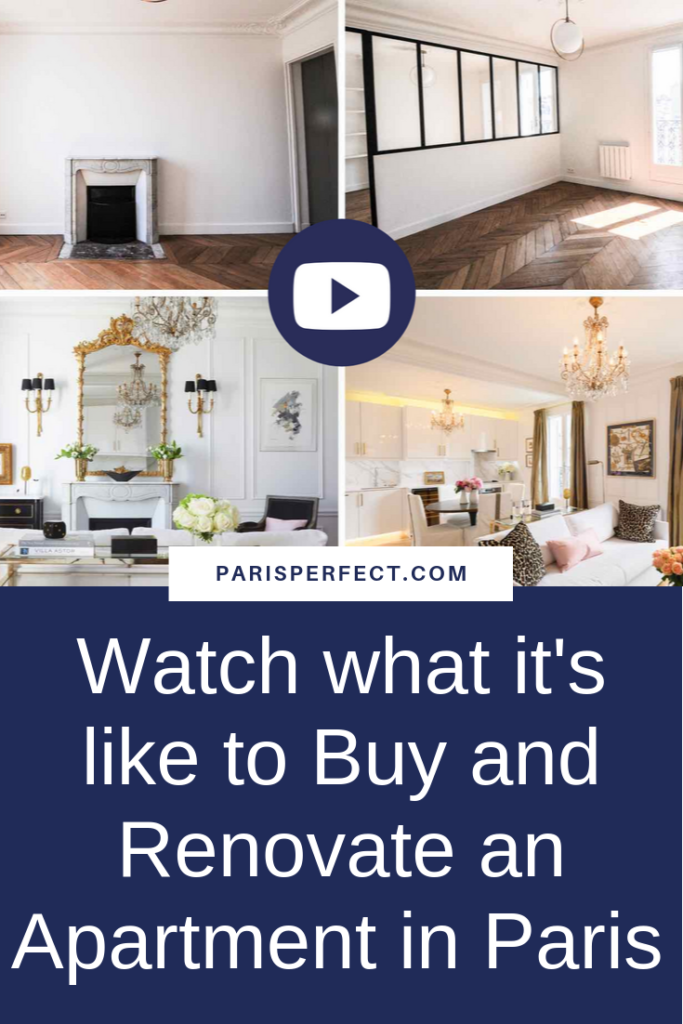 Watch what it's like to Buy and Renovate an Apartment in Paris by Paris Perfect Pinterest