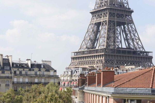 Eiffel Tower and Paris Rooftops
