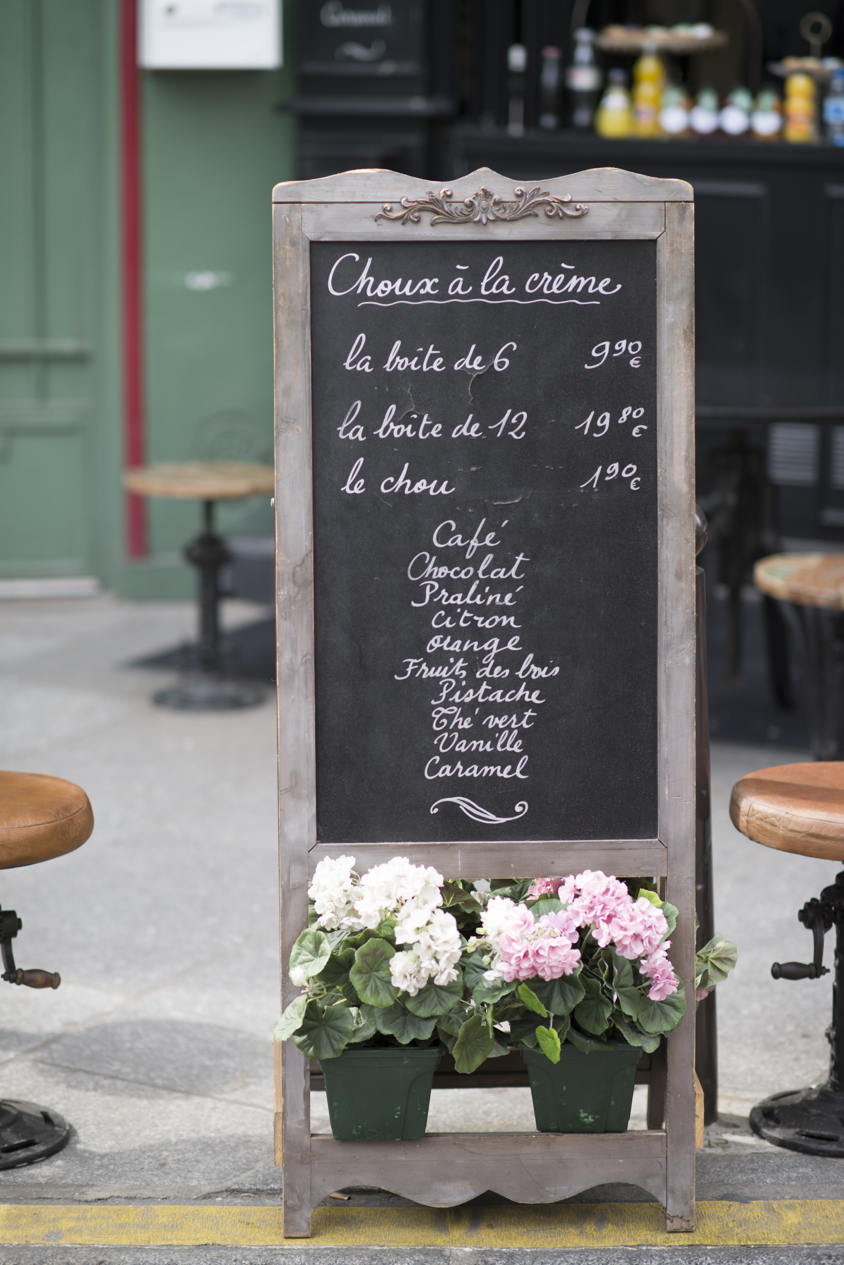 Paris into your home French menu board