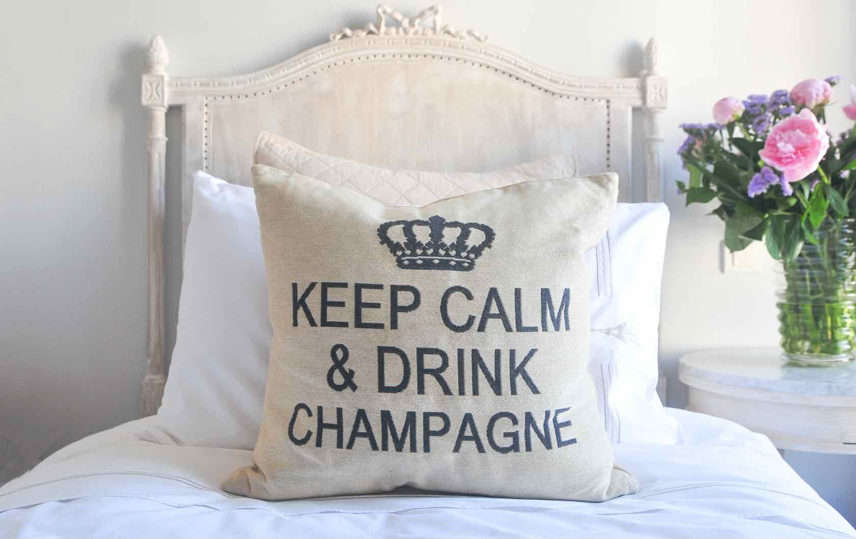 Paris into your home Champagne pillow