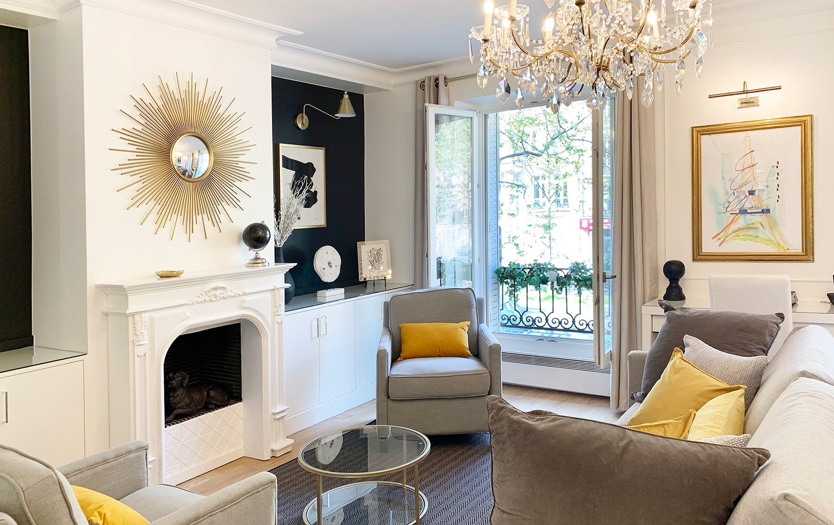 A Glam Before & After Transformation of the Beaujolais Apartment