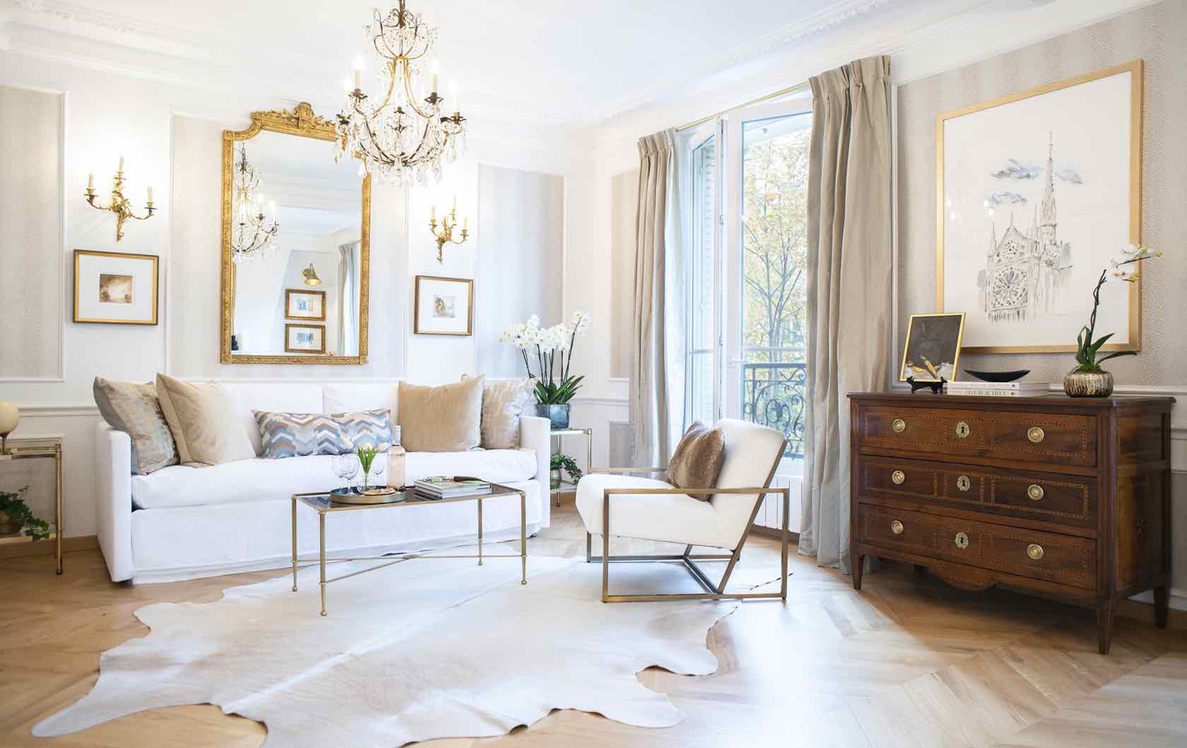Paris real estate Vivant apartment living room