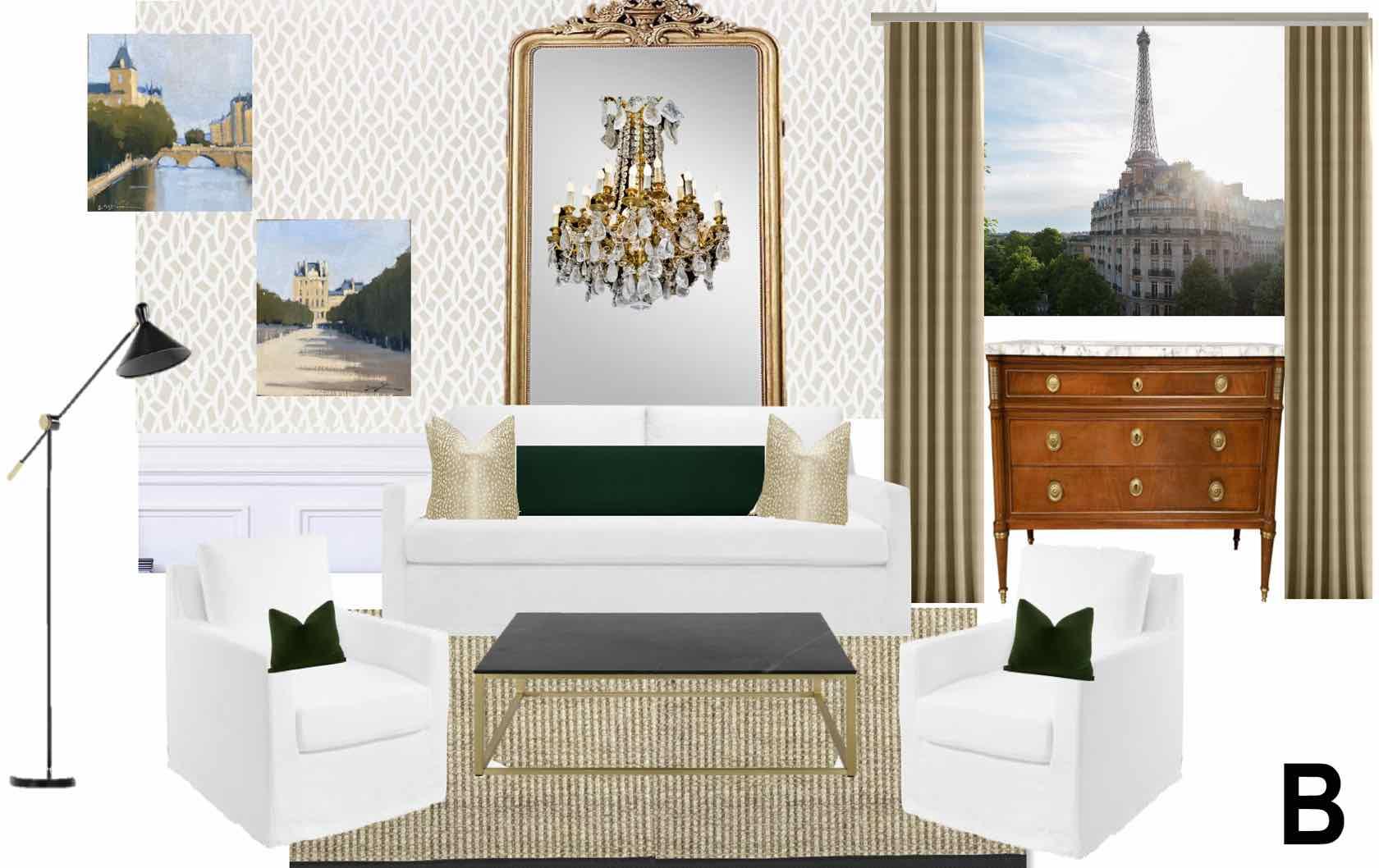 Paris apartment design mood board