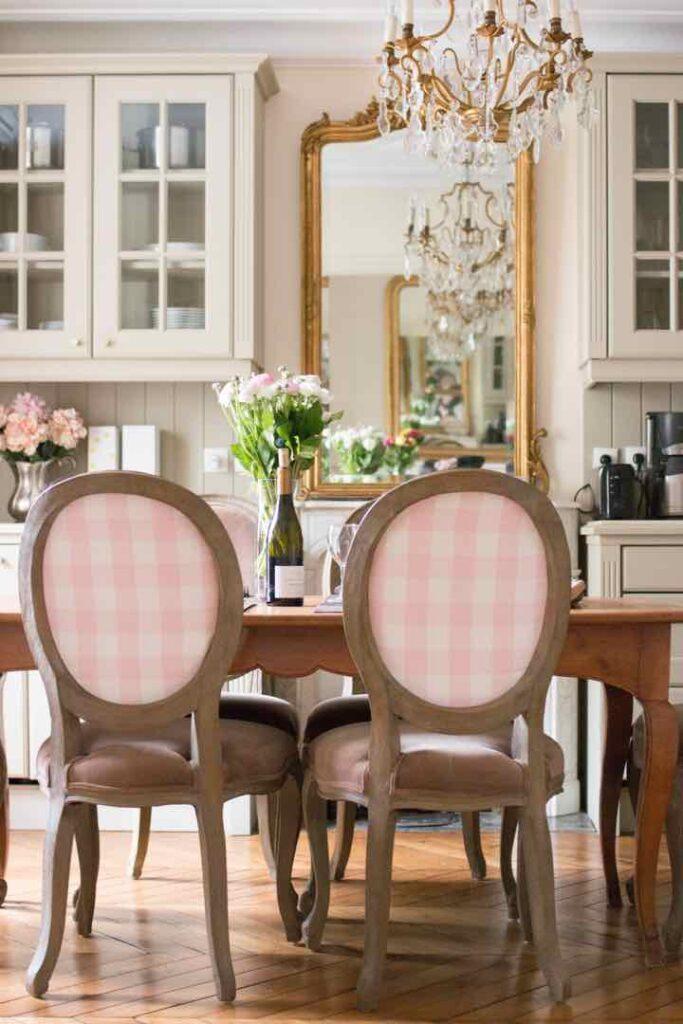 Beaune Kitchen Pink Chairs