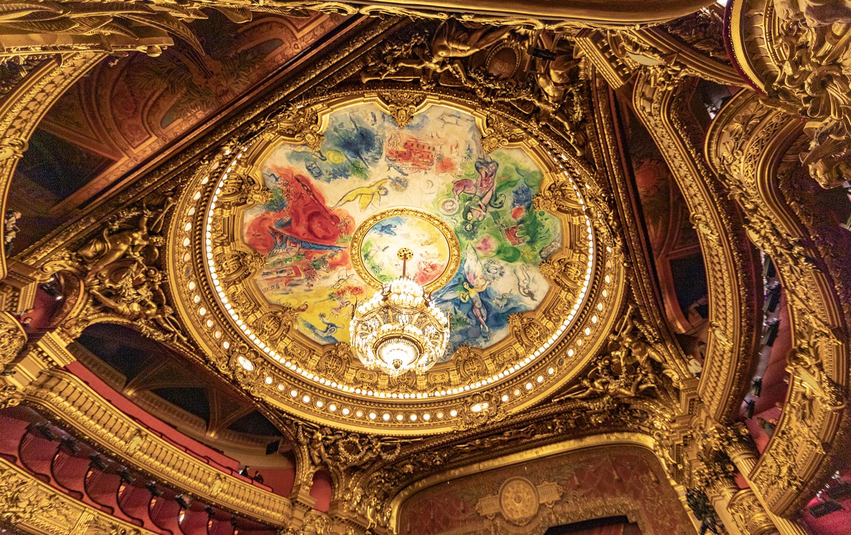 Marc Chagall's ceiling fresco in Palais Garnier