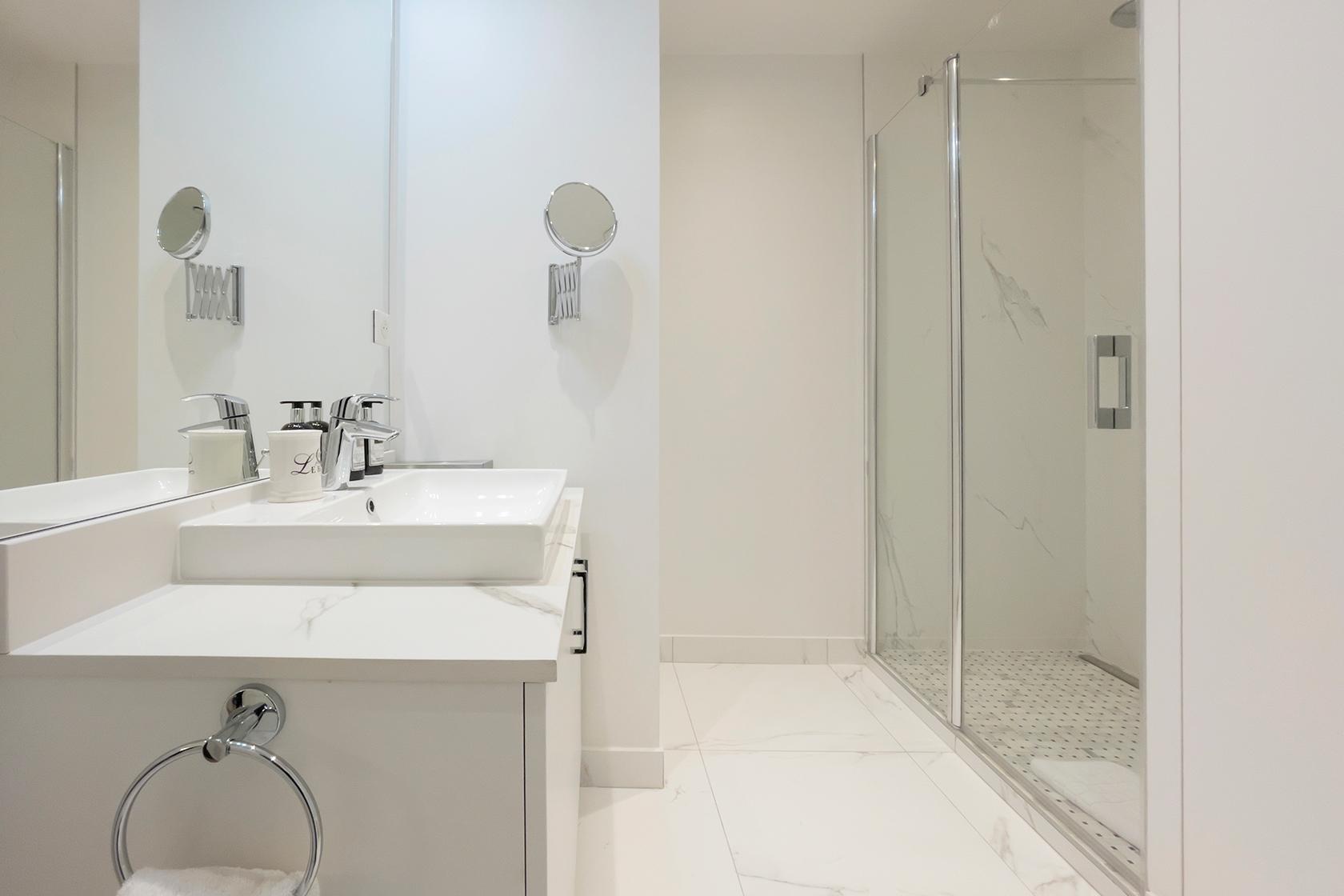 Beaujolais master bathroom After