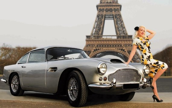 Vintage Car Parade Through Paris