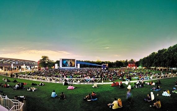 Open-Air Cinema at Parc de la Villette
